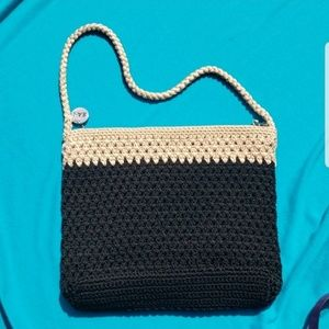 The Sak Black and Tan Crotched Bag Purse